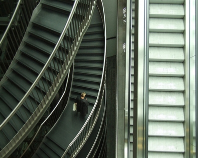 Leipzig Rolltreppen Architektur