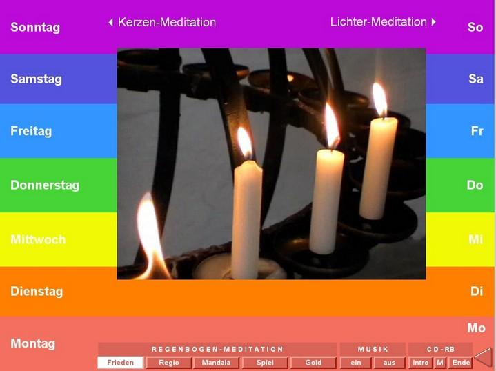 CD-Screenshot der Startseite Friedensmeditation