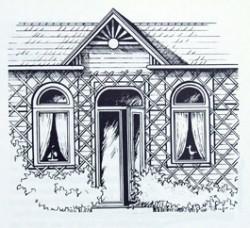 Holzhaus-Zeichnung von Kurt Ries