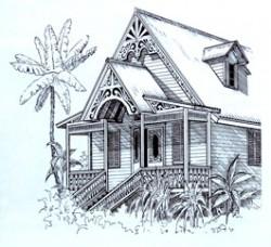 Holzhaus-Zeichnung Kurt Ries