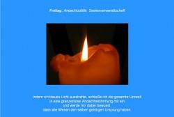 Freitag Friedensmeditations Blau
