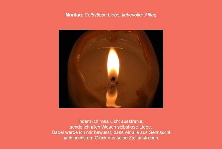 Montag Friedens- und Kerzenmeditation