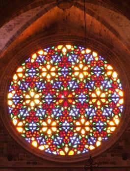 Palma de Mallorca Rosette in der Kathedrale la Seu