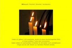 Friedensmeditation Farbmeditation Farbtherapie Gelb Kerzenmeditation Kerze Montag Frieden Kerzenlicht Gebet Fürbitte für den Frieden Harmonie auf Erden Heilung