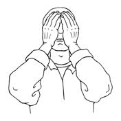 Augenentspannung Palmieren - Entspannung am Bildschirm - Hände auf die Augen legen