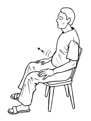 Bauchraum einatmen und ausatmen