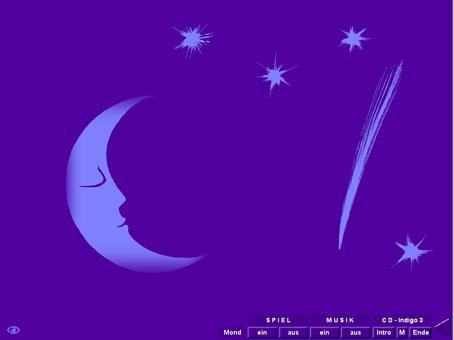 Farbmeditation, Wellness- und Meditationslernspiel, Entspannung mit Farben, Zenkunst zum Träumen und Spielen: Sterne, Mond, Sternschnuppe