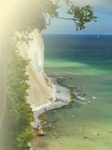 Kreidefelsen auf Rügen türkise Ostsee
