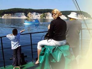 Rügen Kreidefelsen vom Schiff aus gesehen