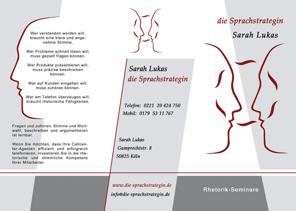 Flyer Logo Corporate Identity Visitenkarte