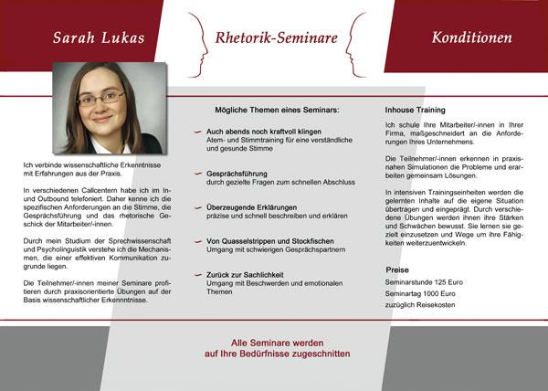 Flyer Beispiel Innenseite Corporate Identity