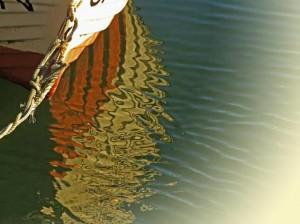 Sassnitz Hafen Boot Spiegelung