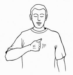 Beklopfen der Thymusdrüse