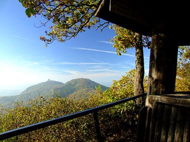 Geisberg: Blick zum Drachenfels - Siebengebirge am Rhein
