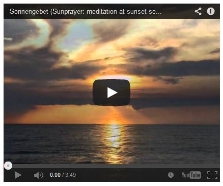 Sonnenuntergang Video am Meer