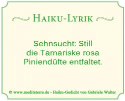 Haiku, Lyrik, Gedicht, Stille, Tamariske, Pinienduft, im Bernsteinrose-Blog, Achtsamkeitstraining