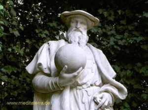 Skulptur in der Brüsseler Gartenanlage du Sablon