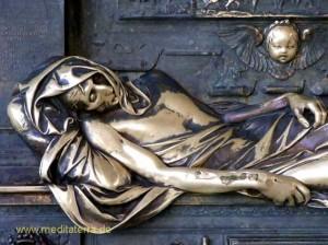 Brüssel Bronzefigur des Ritters Everard