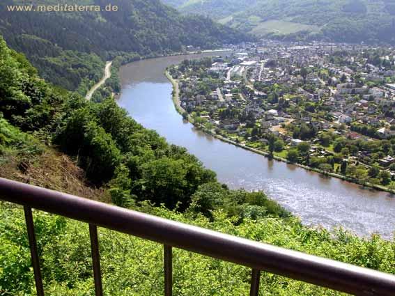Blick ins Moseltal - vom Restaurant Schöne Aussicht - Mosel