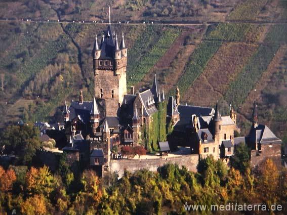 Burg Cochem an der Mosel - Nahperspektive