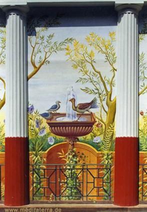 Pompejanum Aschaffenburg mit Wandmalereien