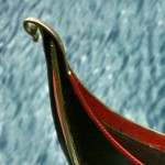 Gondel in Venedig, Schiffsbug Detail