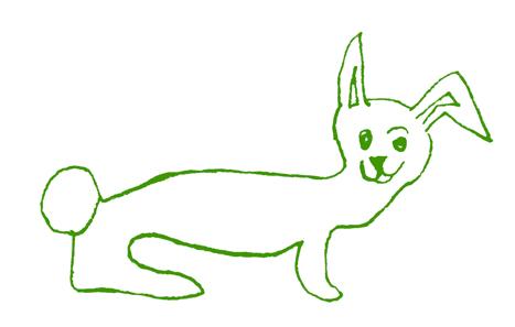 Osterhause Kinderzeichnung Hase