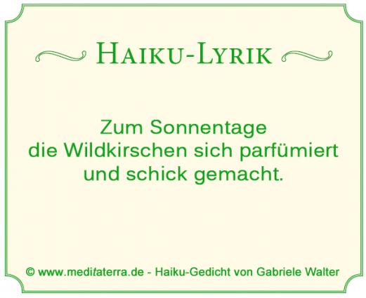 Haikugedicht ueber Wildkirschen