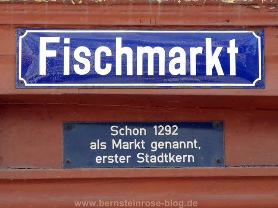 Fischmarkt Straßenschild in Limburg an der Lahn