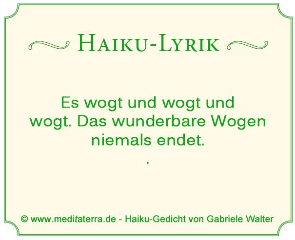 haiku lyrik vom meereswogen, das niemals endet