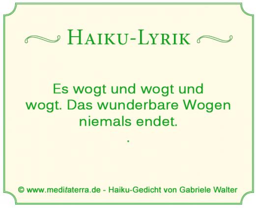 Haikugedicht Meereswogen von Gabriele Walter