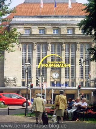 Leipziger Hauptbahnhof, Osthalle - Promenaden, Außenansicht
