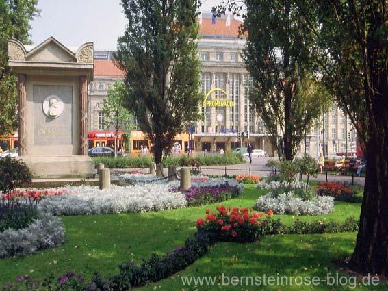 Der Promenadenring am Leipziger Hauptbahnhof - Denkmal für den Bürgermeister Carl Wilhelm Müller