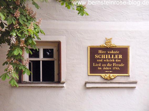 Gedenktafel am Schillerhaus in Leipzig - Ode an die Freude