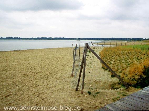 Neuseenland Leipzig Badesee mit Ostseesand
