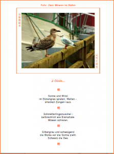 Seite aus dem kostenlosen Geschenkbuch zum Downloaden mit meditativem Foto vom Meer