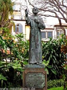 Franz von Assisi Denkmal in Funchal auf Madeira