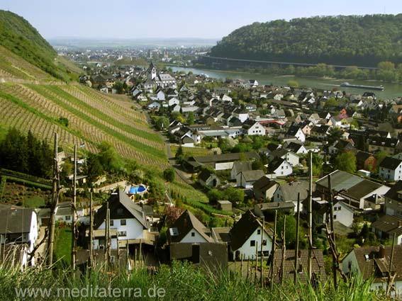 Blick auf Leutesdorf und den Rhein