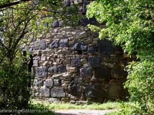 Ruine Hammerstein am Rhein - Aufstiegsweg im Grünen