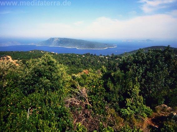 Insel Alonissos: Blick auf weitere Inseln - Sporaden Inselhüpfen, Griechenland
