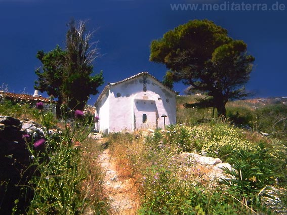 Kapelle in der alten Inselhauptstadt Kastro