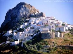 Hauptort der Insel Skyros am Berg