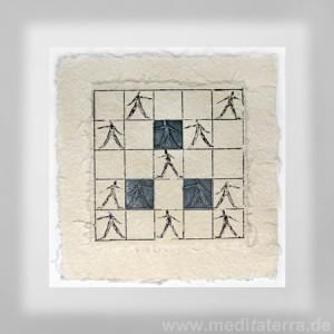 Radierung / Collage aus Südamerika, interkulturelle Kunstausstellung in Köln Kulturbunker