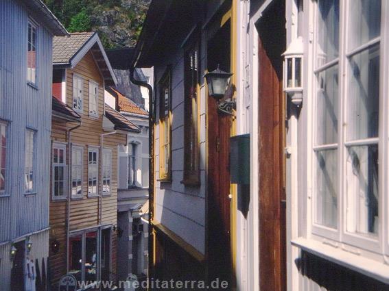 Stadt an der Südküste in Norwegen