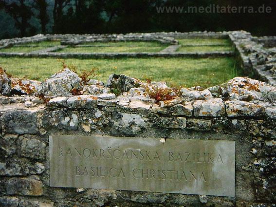Istrien, Kroatien, Reste einer frühchristlichen Kirche in Nesactium