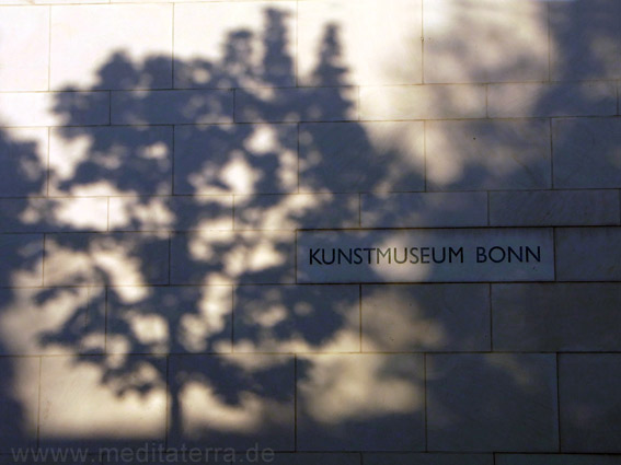 Schattenspiel am Kunstmuseum in Bonn.