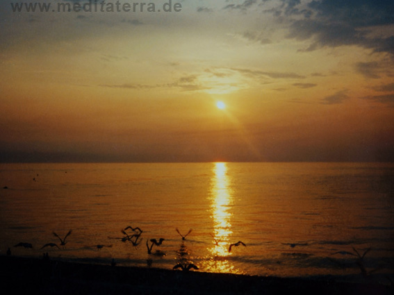 Sonnenuntergang an der Adria in Kroatien