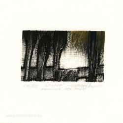 Agim Salihu 1, Kosovo, Spring, Aquatint Dry Point, 16,5 x 17,5 cm, 2015