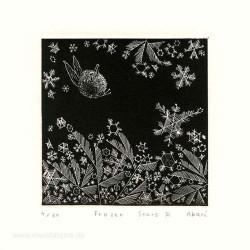 Akari Sugimoto 3, Japan, Frozen Stars 3, Etching, 10 x 10 cm, 2013
