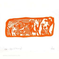 Aleix Mataro 3, Spain, Stamp, Linoleum, 10,5 x 14,7 cm, 2013